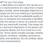 Write a description of a person who serves as a role model or representative of a value that is important in today's society.